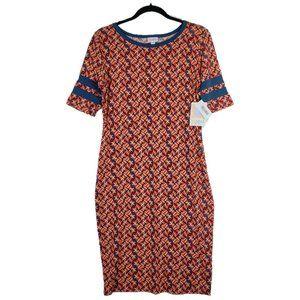 LuLaRoe Julia Sheath Dress Woven Pattern NWT